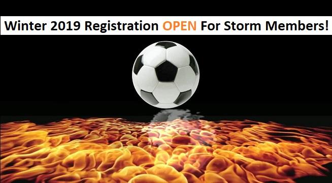 Winter Registration Open For Storm Members....