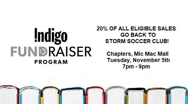 Chapters (Indigo) Night Fundraiser, Tues, Nov 5th, 7pm-9pm