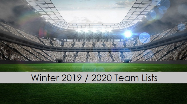 Winter 2019 / 2020 Team Lists