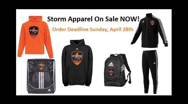 Storm apparel on sale for a limited time...