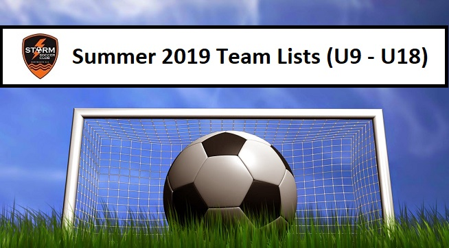 Summer 2019 Team Lists